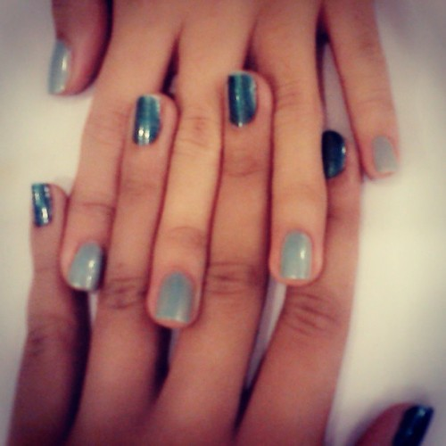 Summer Nails with #bea #nails #like #blue #summer #color #cool #hands #hi #bohol #instalike #instalove #instacolor #instadsummer