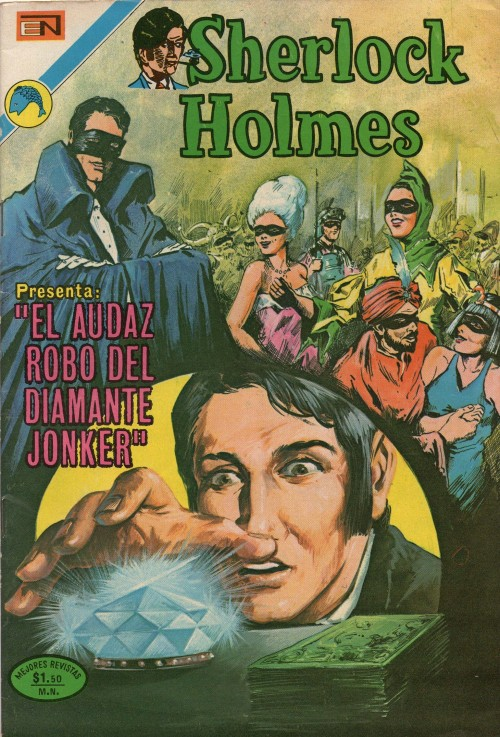 "Sherlock Holmes presenta ""El audaz robo del diamante Jonker"" (historieta de Editorial EN, México) // Sherlock Holmes presents ""The daring robbery of the Jonker Diamond"" (comic book by Editorial EN, México)."