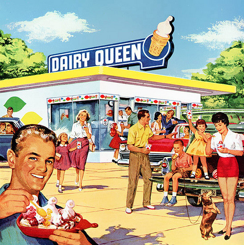 klappersacks:  Part of a 1960 Dairy Queen magazine ad by Paxton Holley on Flickr.