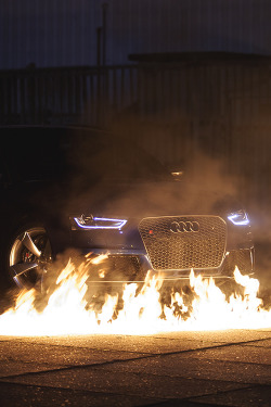 johnny-escobar:  Audi LEDs + fire + vertical image = Irresistible post whore moment.
