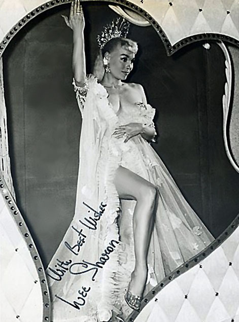 Lee Sharon Signed vintage 50's-era promo photo..