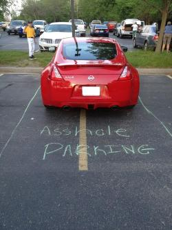 lulz-machine:  Asshole parking  wonderful funny
