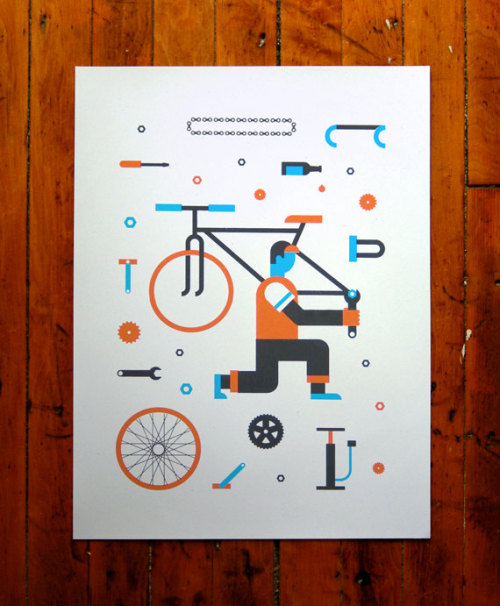 visualgraphic:  Crank Bike Poster