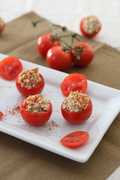 fattributes:  Salmon Salad Stuffed Tomatoes
