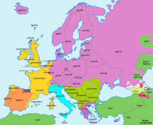 Strange Maps - A cucumber map of Europe!