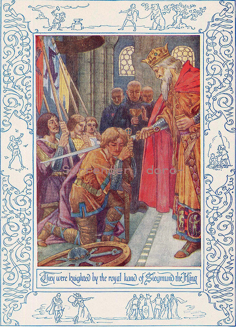 1927 Knighted By The King Lithograph Illustration by SurrendrDorothy on Flickr.