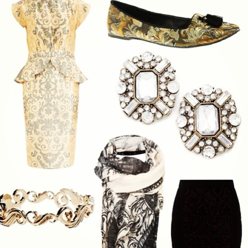 On the blog: fancy, ornate details, perfect for tonight. What-the-frock.com