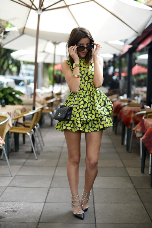 what-do-i-wear:  dress: Choies (s/s 13)shoes: Valentinobag: Purificación Garcíawatch + bracelets: Marc by Marc Jacobs (image: lovely-pepa)