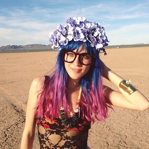 Repost from @karinastanton gypsy den flower crown on @alyssasmangos