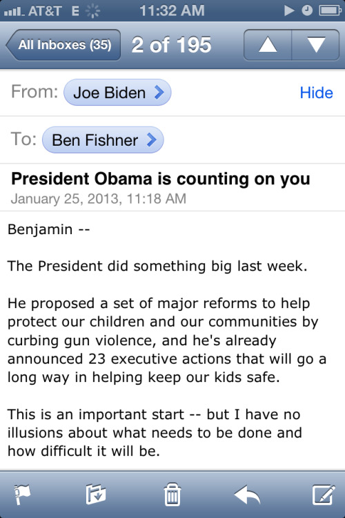 Okay, which one of you gave Joe Biden my number?