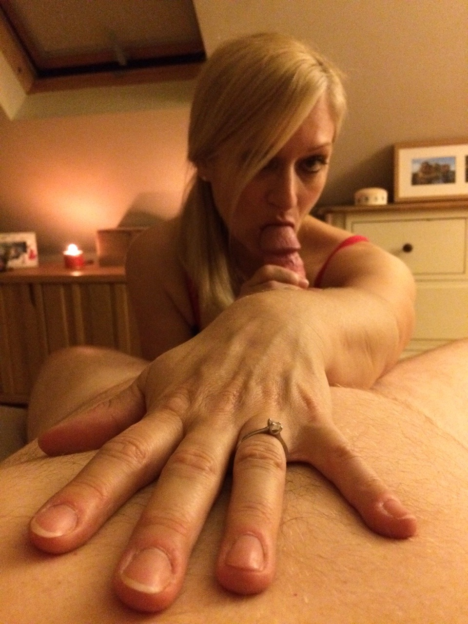 she makes him watch her fingering herself