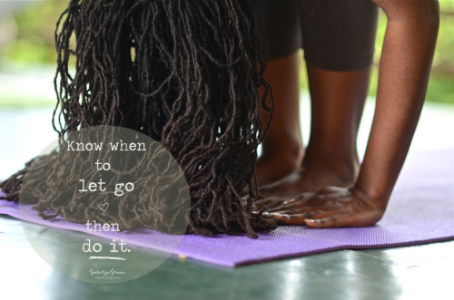 "Photo Title: ~ Know when to let go… ~ ""Uttanasana"" - Standing Forward Bend {Image taken during an Ashtanga Yoga workshop held at Bromley Retreat Center, in St.Ann, Jamaica}"