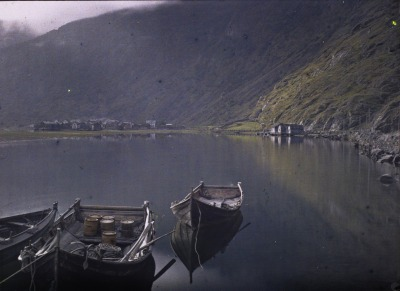 varlys:  Lærdal in Norway, August 1910.