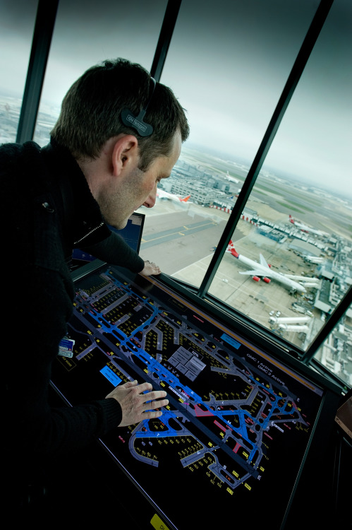 airviation:  London Heathrow Tower Air Traffic Controller Advanced Surface Movement Guidance and Control System