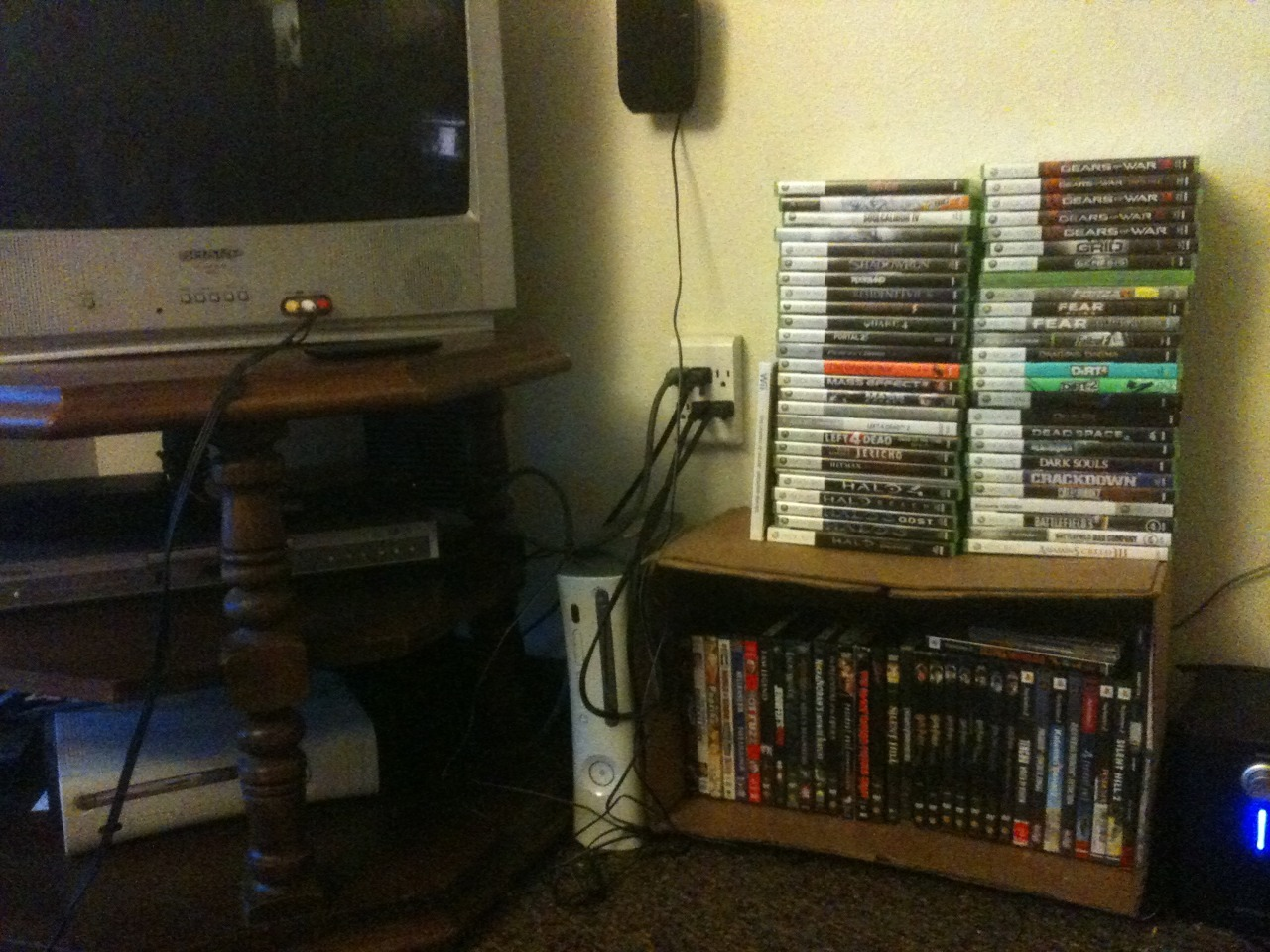 organised our game area and alphabetised all of our video games 8)
