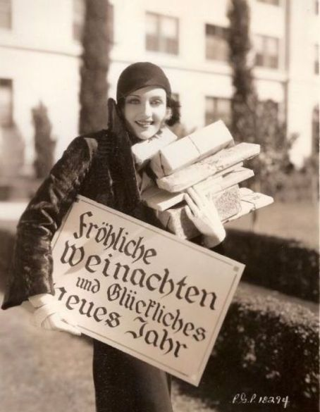 "Carole Lombard - Christmas 1930's ""Merry Christmas and Happy New Year"" in German"