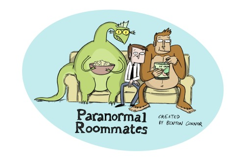 "skronked:  benton's cartoon! ianjq:  bentonconnor:  Hey guys - this past year I was super lucky to make a short for Cartoon Network called ""Paranormal Roommates"" and now you can watch it online!! It was an awesome experience working on this and was especially fun revisiting these old characters from my CalArts days. Hope you enjoy! :)  EVERYONE WATCH BENTON'S SHORT!!!!!!!!"