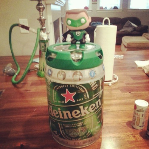 green lantern approves for st.pattys day #greenlantern #dc #DCcomics #toys #beer #stpattys #heineken