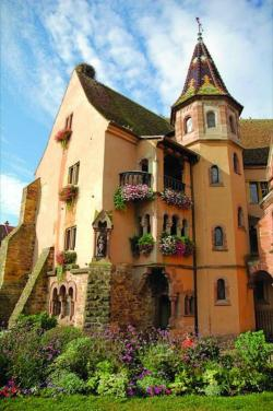 Garden House, Eguisheim, Alsace, France photo via besttravelphotos