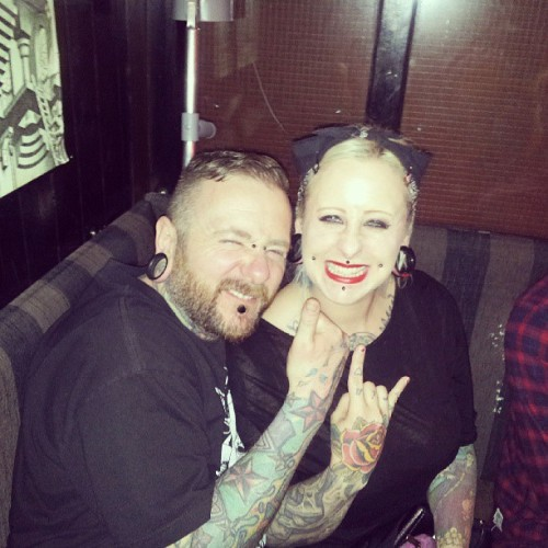 Me and my big brother @awoltattooer aka #awoltattoosandpiercing #galway #Ireland #summer #2013 #tattooartist #tattooer #piercer #bodypiercer