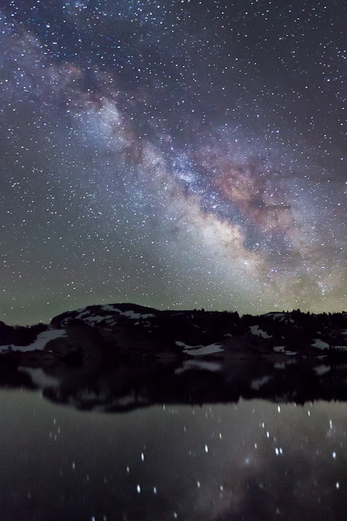 vurtual:  Milky Way - Sierra Nevada, California (by Jeffrey Sullivan)