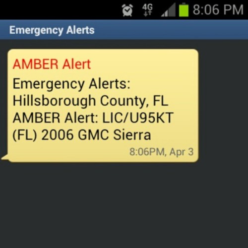 phone almost jumped out my pocket #AmberAlert