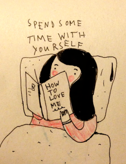 the-absolute-best-posts:  saskiakeultjes: Today: reading in bed by Saskia Keultjes   My lovely followers, please follow this blog immediately!