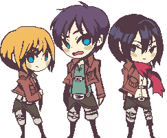 hachibani:  Wanted to pixel this cuties vwv also I missed pixel art so much oops