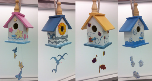 THE LAND BIRDHOUSES by Stephen Christ This was my Christmas present to my mom.  Four birdhouses that look like each of the seasons balloons at the Land pavilion.  Happy Mother's Day!
