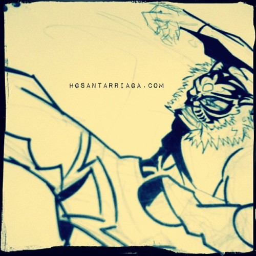 Tiger Mask: las tintas! #sketch #dibujo #draw #drawing #illustration #ilustración #hgsantarriaga  #art #artwork #artprocess #wip #process #pencils #boceto #trazo #arte #myart #luchalibre
