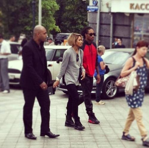cibandz:  [May 18, 2013] PHOTO: Ciara & Future were spotted in Moscow,Russia.