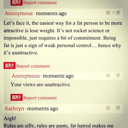 Anon comments like this from narrow minded idiots make me laugh! #assholes