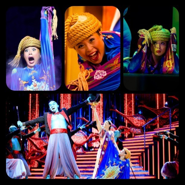 "Happy 10 year anniversary to ""Aladdin: A Musical Spectacular!"" SO blessed to call this my job and work with an amazing cast!👳💃🎩💎🐪"