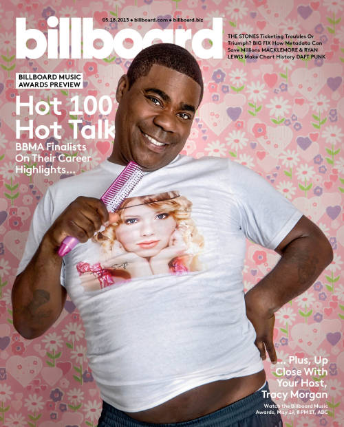 billboard:  Looks like #Tracy #Morgan is pretty excited to see Taylor Swift perform at the 2013 Billboard Music Awards next weekend…
