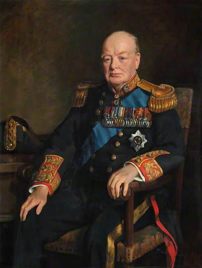 monsieurlabette:  Sir Winston Churchill By John Leigh-Pemberton Oil on canvas