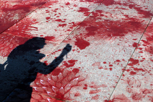 Blood Splatter Mural on the Roof of the Met, Imran Qureshi