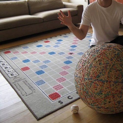 booksdirect:  Scrabble rug.