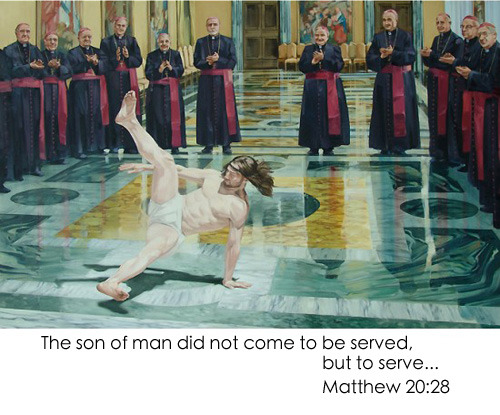 stab-in-the-eye:  He came to serve
