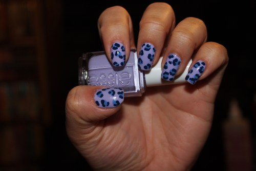 A twist on the basic leopard print, using Essie's LilacismEnjoy! :)