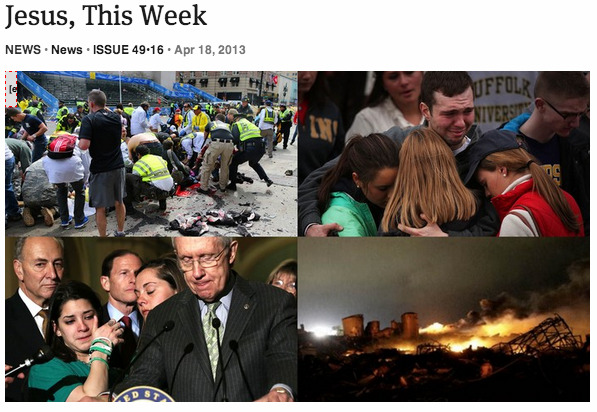 theonion:  Jesus, This Week: Full Report