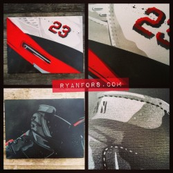 Last 2 original #jordan canvases left. $60/ea and I'll cover the shipping! Tell a friend to tell a friend… Email info(at)ryanfors.com #igsneakercommunity #infrared #firered #stencil #ryanfors #sneakerhead