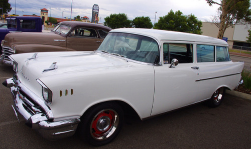 1957 Chevrolet Wagon by stephenvelden on Flickr.