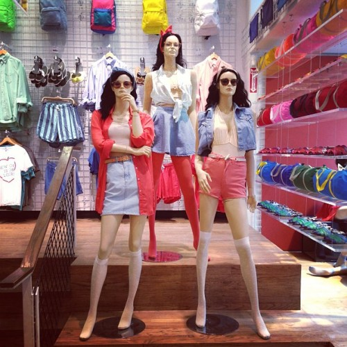 americanapparel:  Spring has arrived at our FIT store in New York City!