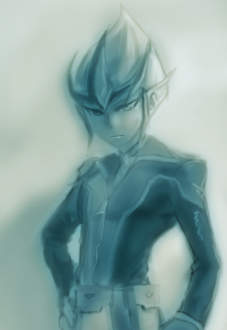motolokiev:  Weekly obligatory doodle of pokerface Kaito
