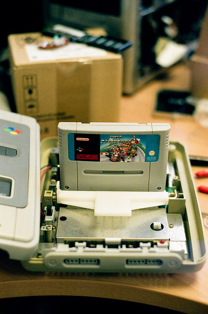 SNES tinkering. on Flickr.