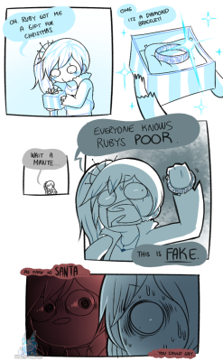 Christmas request comic comics ruby ruby rose RWBY Weiss Weiss Schnee im never going to stop laughing at this joke