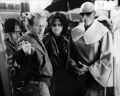 Ridley Scott on-set of Blade Runner (1982)