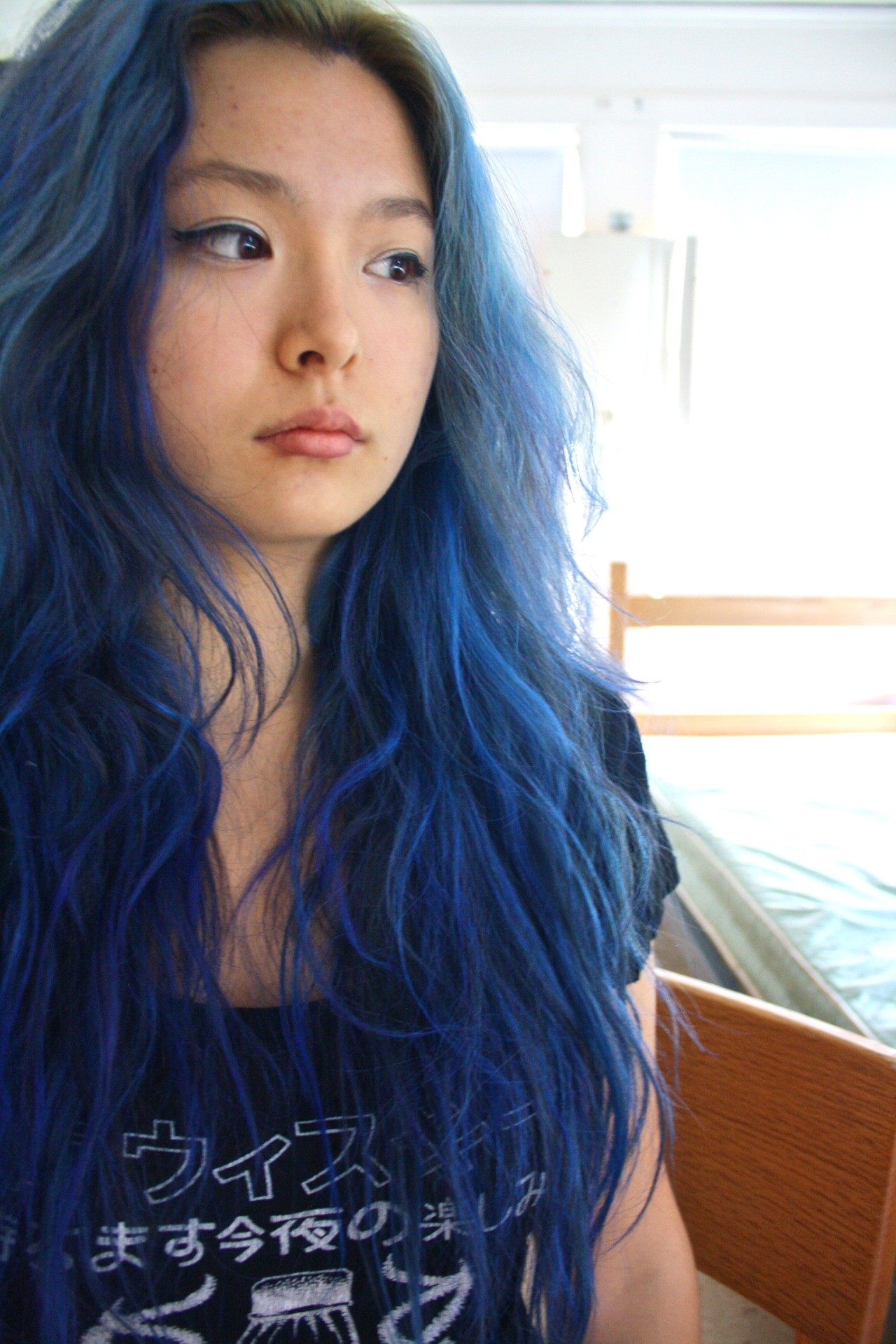 lovelydyedlocks:  manic panic rockabilly blue with added hints of mp ultraviolet for kicks :]
