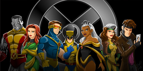 "X for X-Men! I was inspired by Alex Ross' painting of the Justice League. However, I'm more of an X-Men fan. This is who I consider to be the ""Justice League of the X-men."" Colossus, Phoenix, Cyclops (still a jerk though), Wolverine, Storm, Rogue, and Gambit.  Enjoy"