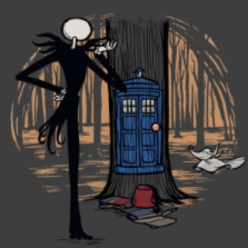 obeythedaleks:  Behind the door.. #tardis #nightmare #before #christmas #nightmarebeforechristmas #skeleton #jack #love #movie #tree #door #world #blue #halloween #forest #doctorwho #doctor #whovian #dalek #tshirt #design by doctors_daughter http://instagr.am/p/TFsu9JOh1H/